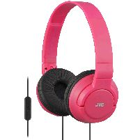 Headphone Powerful Bass Headphones With Remote Mic Red