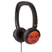Headphone Earmojis Dj Style Headphones Angry Face