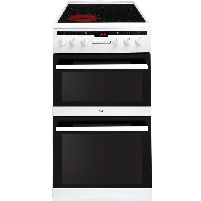 50cm Electric Double Oven With Ceramic Glass Hob Cooker - 50cm