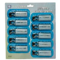 Earphone (dno) Pf Stereo Earphones (display Card Of 10) Dno