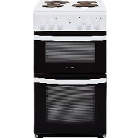 50cm Electric 50w Cooker, Twin Cavity & Solid Plate Hob