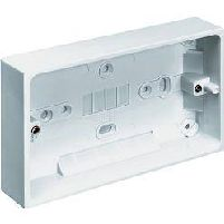 Sockets, Switches & Fixings Double Surface Mounting Box