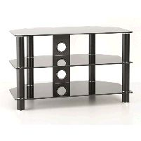 Tv Stands Up To 32inch Classik Tv Stand 3 Shelf Black Glass