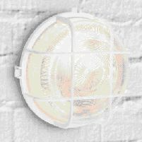 Outdoor Light 60w Round Plastic Bulkhead White